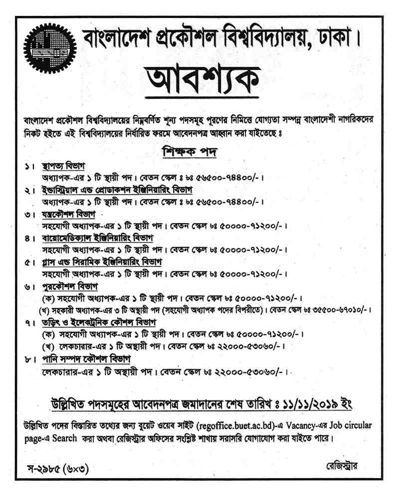 লেকচারার - পানি সম্পদ কৌশল বিভাগ